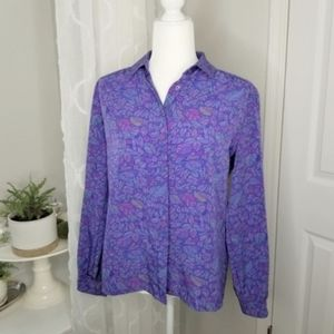 Country Sophisticated vintage Pendleton blouse